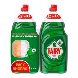 Gel Lavavajillas A Mano Fairy Ultra Original 780 Ml + 780 Ml (Pack de 2)