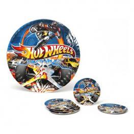 Juego de 5 Platos Hot Wheels Cartón 113660