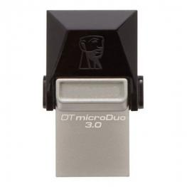 Memoria Usb y Micro Usb Kingston Dtduo3 64 Gb Usb 3.0 Negro Gris