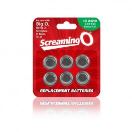 Pack de Baterías Ag10 (6 Pcs) The Screaming O Bat6-110A
