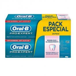 Pasta de Dientes Sensibilidad y Blanqueante Pro-Expert Oral-B (2 Uds)
