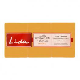 Pastilla de Jabón de Glicerina Natural Lida (3 Pcs)