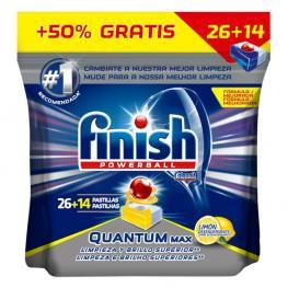 Pastillas Para Lavavajillas Finish Quantum Limón (40 Dosis)