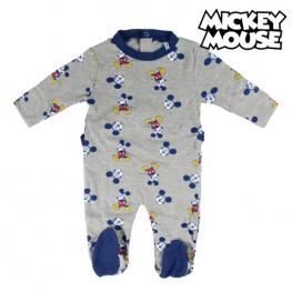 Pelele de Manga Larga Para Bebé Mickey Mouse 74644 Gris