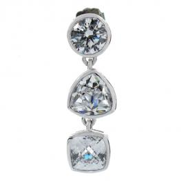 Pendientes Mujer Gc Watches Cwe81109 Plata (4 Cm)