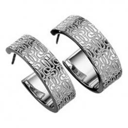 Pendientes Mujer Gc Watches Cwe90705 Plata (3 Cm)