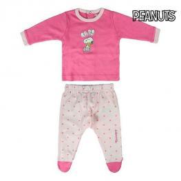 Pijama Infantil Snoopy Rosa
