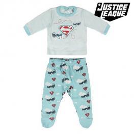 Pijama Infantil Superman Azul Claro