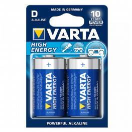 Pila Varta Lr20 D 1,5 V 16500 Mah High Energy (2 Pcs) Azul