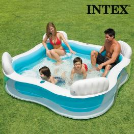 Piscina Hinchable Familiar Con Asientos Summer Intex