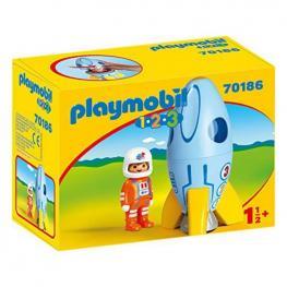 Playset 1.2.3 Space Rocket Playmobil 70186 (2 Pcs)