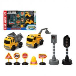 Playset de Vehículos Traffic City (9 Pcs) 112857