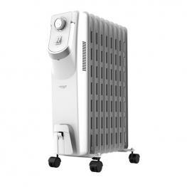 Radiador de Aceite (9 Cuerpos) Cecotec Ready Warm 5800 Space 360º 2000W Blanco