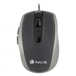 Ratón óptico Ngs Wired Mouse 1600 Dpi Usb Gris