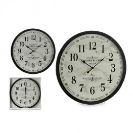 Reloj de Pared Gift Decor Blanco Negro (3,5 X 60 X 60 Cm)