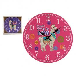 Reloj de Pared Gift Decor Madera (3 X 33,8 X 33,8 Cm)
