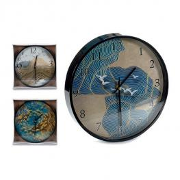 Reloj de Pared Gift Decor Negro (30 X 4 X 30 Cm)