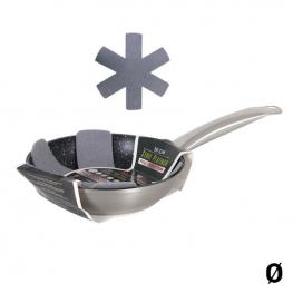 Sartén Antiadherente Quttin Aluminio Forjado Plateado