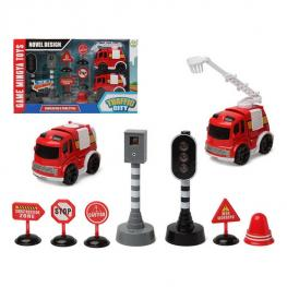 Set de Bombero Traffic City 112840 (9 Pcs)