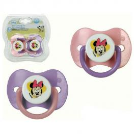 Set de Chupetes de Silicona Minnie Mouse Disney +0M 119193 (2 Uds)