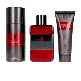 Set de Perfume Hombre The Secret Temptation Antonio Banderas Edt (3 Pcs)