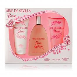 Set de Perfume Mujer Agua Rosas Aire Sevilla (3 Pcs)