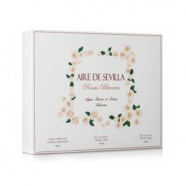 Set de Perfume Mujer Rosas Blancas Aire Sevilla (3 Pcs)