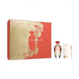 Set de Perfume Mujer Unica Coral Adolfo Dominguez (3 Pcs)