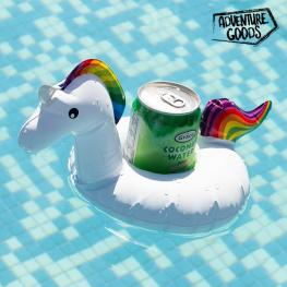 Soporte Hinchable Para Bebidas Unicornio Adventure Goods