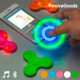 Spinner Led Con Altavoz y Bluetooth Innovagoods