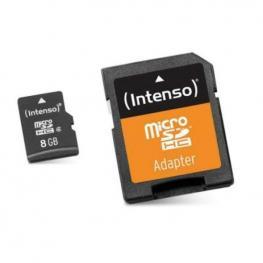 Tarjeta de Memoria Micro Sd Con Adaptador Intenso 3413460 8 Gb Clase 10