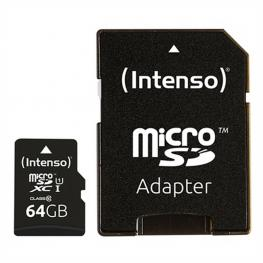 Tarjeta de Memoria Micro Sd Con Adaptador Intenso 34234 Uhs-I Xc Premium Negro