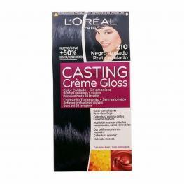 Tinte Sin Amoniaco Casting Creme Gloss L'Oreal Make Up Negro Azulado