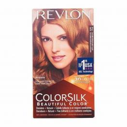 Tinte Sin Amoniaco Colorsilk Revlon Castaño Dorado Muy Claro