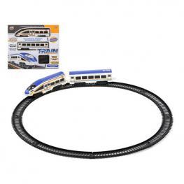Tren Con Circuito 118224 Azul Blanco