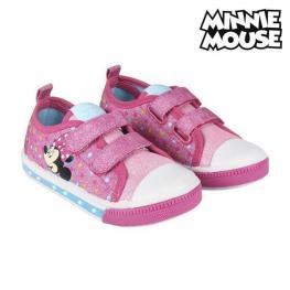 Zapatillas Casual Con Led Minnie Mouse 73620 Rosa