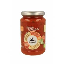 Salsa de Tomate Con Albahaca 350Gr Alce Nero