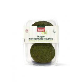 Burger de Espinacas y Quinoa Bio Sin Gluten 180 Gr (C/ 6 Udes)