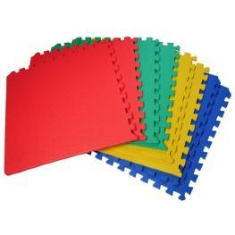Alfombras Puzzle Para Bebes 3 Años Goma Espuma Eva 8 Piezas Homcom - Color: Multicolor