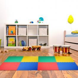 Alfombras Puzzle Para Bebes Goma Espuma Eva 8 Piezas Homcom<br> - Color: Multicolor