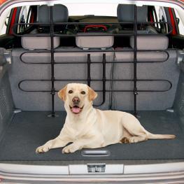 Barrera Para Maletero Tipo Reja Separadora Universal Para Protección de Perros<br> - Acero<br> - Color Negro<br> - 85-150X85-128 Cm<br> - Color: Negro