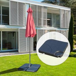 Base de Sombrilla O Pie Para Parasol– Color Negro €�Plástico €� 50 X 50 X 7.5Cm - Color: Negro