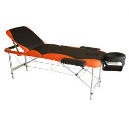 Camilla de Masaje Plegable y Portátil Para Fisioterapia<br> - Negro y Naranja<br> - Pu y Estructura Aluminio<br> - 185X60 Cm<br> - Color: Negro y Rojo