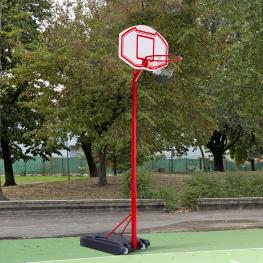 Canasta de Baloncesto Homcom Pe, Acero, 210-260 Cm, Negro y Rojo  - Color: Multicolor
