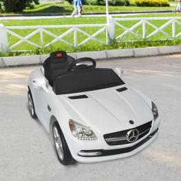 Coche Eléctrico Infantil de Batería Mercedes Con Control Remoto y Claxon €� Blanco €� Pp Abs -110 X 57,75 X 49,05 Cm - Color: Blanco
