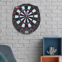 Diana Electrónica Digital 18 Juegos y 159 Variantes + 6 Dardos de Punta Plastica<br> - Color: Negro