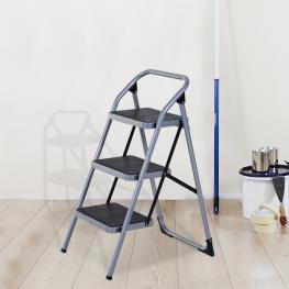 Escalera Taburete Escabel Homcom  - Color: Plateado