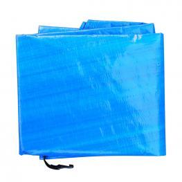 Funda Proteccion Impermeable Para Trampolín Homcom Pe ø244Cm, Azul  - Color: Azul