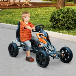 Go Kart Racing Deportivo Negro y Naranja Homcom  - Color: Negro y Naranja