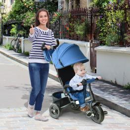 Homcom® 3 En 1 Triciclo Para Niños +18 Meses Azul 96X53.5X101Cm<br> - Color: Azul